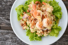 Shrimp salad, Thai Food Stock Photo