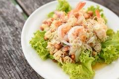 Shrimp salad, Thai Food Stock Images
