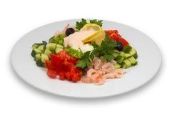 Shrimp salad with vegetables Stock Photos