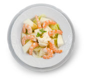 Shrimp Salad. White Royalty Free Stock Photo