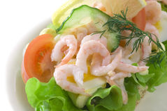 Shrimp Sandwich Royalty Free Stock Image