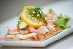 Shrimp sandwich Stock Photo