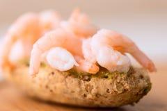 Shrimp sandwich shallow DOF Royalty Free Stock Photography