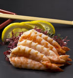 Shrimp sashimi Stock Photos