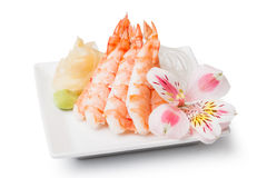Shrimp sashimi Royalty Free Stock Photos