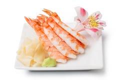 Shrimp sashimi Stock Image