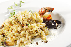 Shrimp and Scallop Risotto Stock Photo