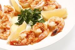 Shrimp Scampi. On a plate Stock Photos