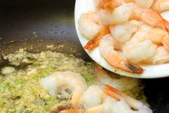 Shrimp Scampi royalty free stock photography
