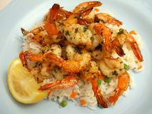 Free Shrimp Scampi And Rice Stock Photos - 5995243
