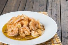Shrimp scampi for appetizer Royalty Free Stock Images