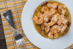 Shrimp scampi for appetizer Royalty Free Stock Photography