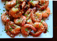 Shrimp Scampi Stock Photography
