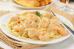 Shrimp scampi with garlic butter sauce. A plate of shrimp scampi with garlic butter sauce Stock Photography