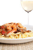 Shrimp Scampi with Linguine Royalty Free Stock Image