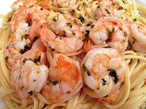Shrimp Scampi With Linguini Royalty Free Stock Images