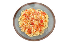 Shrimp Scampi with pasta Stock Photography