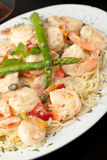 Shrimp Scampi with Pasta Stock Images