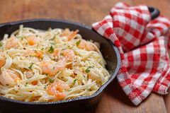 Shrimp Scampi Royalty Free Stock Photos