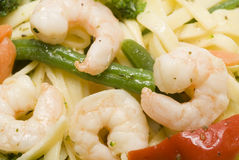 Shrimp scampi primavera Royalty Free Stock Photos