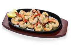 Shrimp scampi. Sauteed in garlic butter, american food Stock Images
