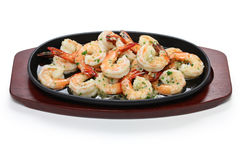 Shrimp scampi. Sauteed in garlic butter, american food Stock Photos