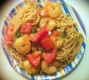 Shrimp Scampi Twist Dish Royalty Free Stock Image