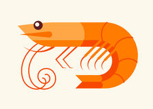 Shrimp - seafood icon Royalty Free Stock Photography