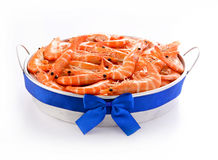 Shrimp seafood in the pot Royalty Free Stock Image