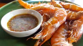 Shrimp and seafood sauce royalty free stock photo