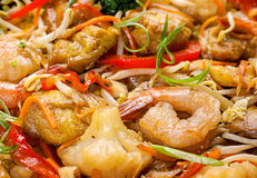 Shrimp seafood and vegetable Royalty Free Stock Photography