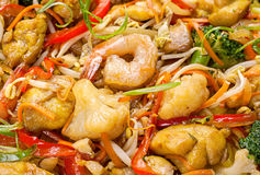 Shrimp seafood and vegetable Royalty Free Stock Images