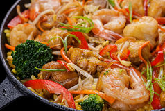 Shrimp seafood and vegetable Royalty Free Stock Photos