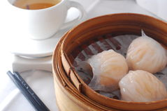 Shrimp shaomai dim sum Royalty Free Stock Photo