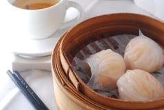 Shrimp shaomai dim sum. Chinese shrimp shaomai dim sum dumpling Royalty Free Stock Photo