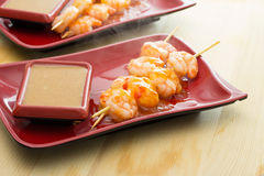 Shrimp shashlik Stock Photo