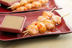 Shrimp shashlik Royalty Free Stock Image