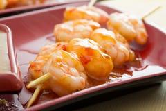 Shrimp shashlik Royalty Free Stock Images