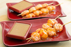 Shrimp shashlik Stock Image