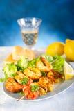 Shrimp skew royalty free stock photos