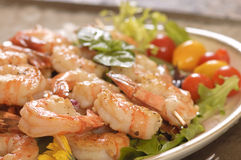 Shrimp on skewer Royalty Free Stock Image