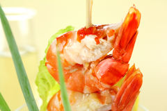 Shrimp On Skewer Royalty Free Stock Photography