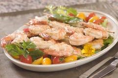 Shrimp on a skewer royalty free stock image