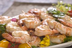 Shrimp on a skewer Royalty Free Stock Image