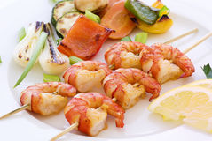 Shrimp Skewer Stock Photography