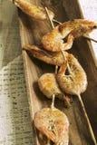 Shrimp skewer Stock Image