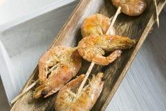 Shrimp skewer Royalty Free Stock Photos