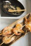 Shrimp skewer Stock Photos