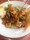 Shrimp skewered Stock Photo