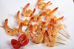 Shrimp skewers 2 Stock Photography